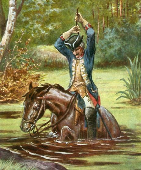 Барон Мюнхаузен вытаскивает себя из болота - символ заблудившегося мужчины